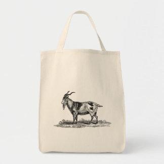Vintage Domestic Goat Illustration -1800's Goats Tote Bag