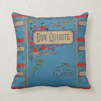 Vintage Don Quixote Book Cover Cushion