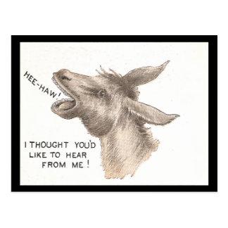 Vintage Donkey Comics Postcard