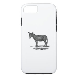 Vintage Donkey Illustration - 1800's Donkeys iPhone 7 Case