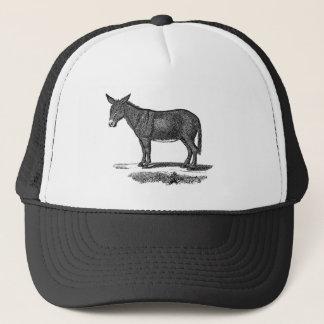 Vintage Donkey Illustration -1800's Donkeys Trucker Hat