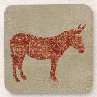 Vintage Donkey Silhouette Coaster