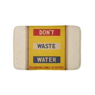 "Vintage ""Don't Waste Water"" Bathmat"