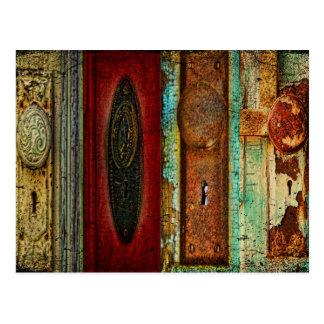 Vintage Door Knob Photography Postcard