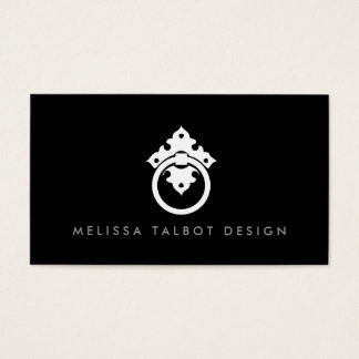 VINTAGE DOOR KNOCKER LOGO No. 2 Business Card