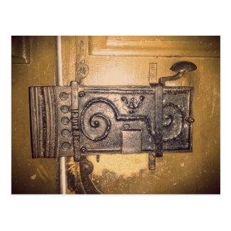 Vintage  Door Lock Postcard