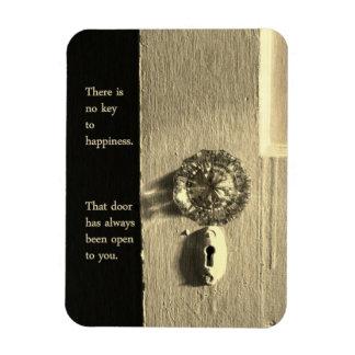 Vintage Door to Happiness Magnet Vinyl Magnet
