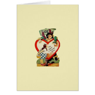 Vintage Dorothy and Scarecrow Valentine Card