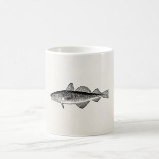 Vintage Dorse Fish - Marine Fishes Template Blank Coffee Mug