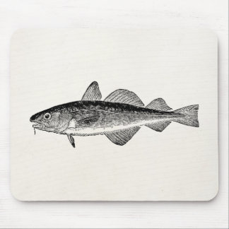 Vintage Dorse Fish - Marine Fishes Template Blank Mouse Pad