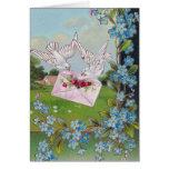 Vintage Doves Birthday Greetings Greeting Card