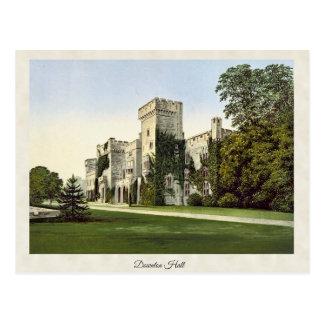 Vintage Downton Hall Shropshire England Postcard