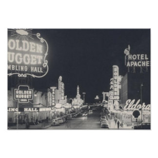 Vintage Downtown Las Vegas Poster