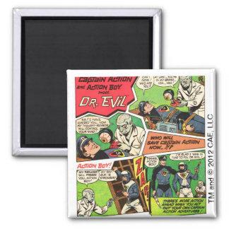 Vintage Dr. Evil Square Magnet