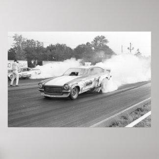 Vintage Drag - DragOn Vega Funny Car Poster