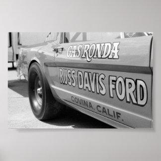 Vintage Drag - Gas Poster