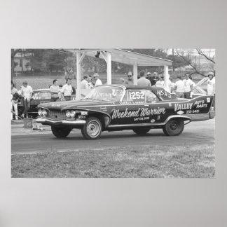 Vintage Drag Racing - 1960 Plymouth Fury Poster