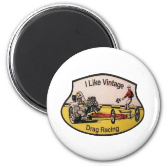 Vintage Drag Racing Magnet