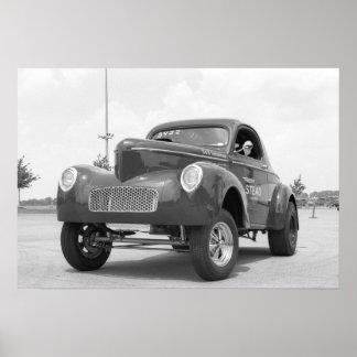 Vintage Drag - Willys Gasser Poster