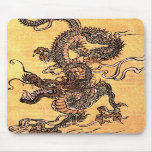Vintage Dragon Tapestry Mouse Pad