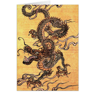Vintage Dragon Tapestry Note Card