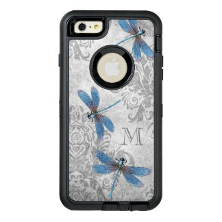 Vintage Dragonflies with Custom Monogram OtterBox iPhone 6/6s Plus Case
