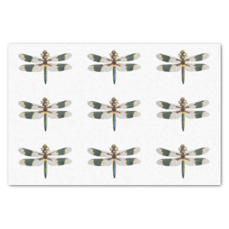 Vintage Dragonfly Art Tissue Paper Gift Wrapping