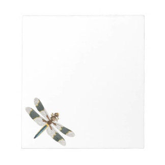 Vintage Dragonfly Drawing Antique Insect Artwork Notepad