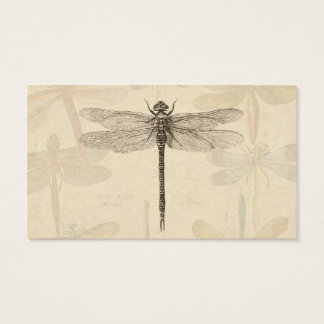 Vintage dragonfly drawing business card