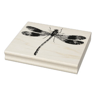Vintage Dragonfly Rubber Art Stamp