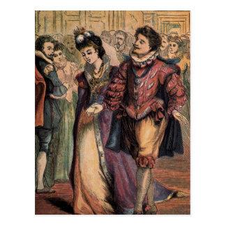 Vintage Drawing: Cinderella and the Prince Postcard