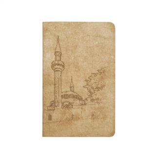 Vintage drawing of Juma-Jami Mosque Journal