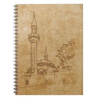 Vintage drawing of Juma-Jami Mosque Notebook