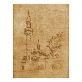 Vintage drawing of Juma-Jami Mosque Postcard