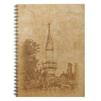 Vintage drawing of Juma-Jami Mosque Spiral Note Books