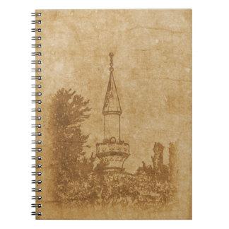 Vintage drawing of Juma-Jami Mosque Spiral Notebook