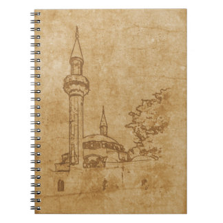 Vintage drawing of Juma-Jami Mosque Spiral Notebook