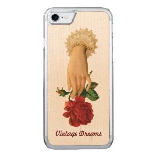"""Vintage Dreams"" - Lady Ring & Rose Carved iPhone 7 Case"