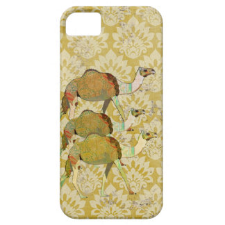 Vintage Dreamy Camel Gold Damask iPhone Case iPhone 5 Cases