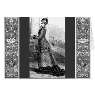Vintage Dress Card