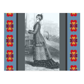 Vintage Dress Postcard
