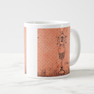 Vintage Dressmaker Large Coffee Mug