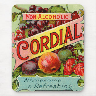 Vintage Drink Label Non Alcoholic Cordial Mouse Pad