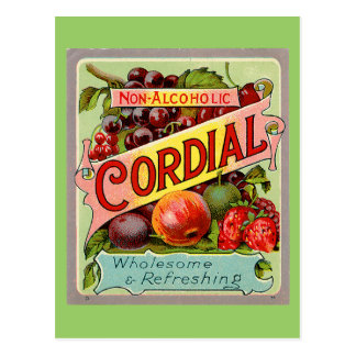 Vintage Drink Label Non Alcoholic Cordial Postcard