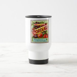 Vintage Drink Label Non Alcoholic Cordial Stainless Steel Travel Mug
