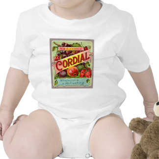 Vintage Drink Label Non Alcoholic Cordial Baby Bodysuits