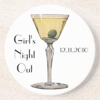 Vintage Drinks Beverges Cocktail Martini Olive Drink Coaster
