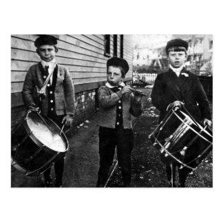 Vintage Drummer Boys Photograph Postcard