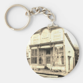 Vintage Dry Goods Building Basic Round Button Key Ring