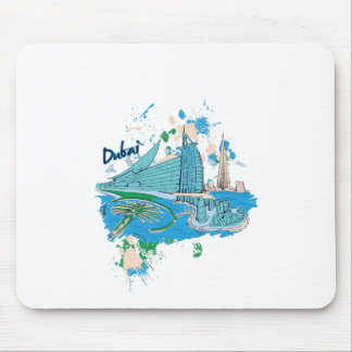 vintage dubai us e design mouse pad